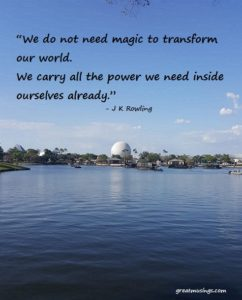 J K Rowling on Magic and Power