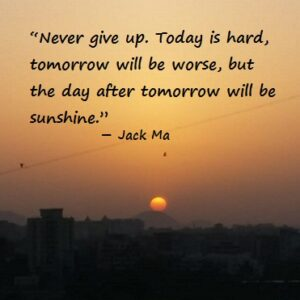 Jack Ma on Never Give Up