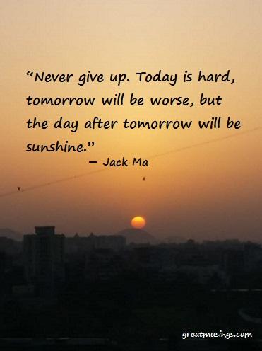Jack Ma on Never Give Up