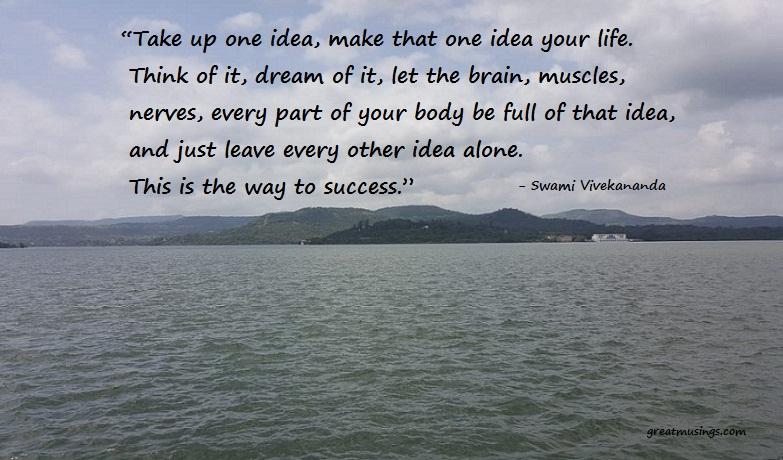 Swami Vivekananda on Idea to Success