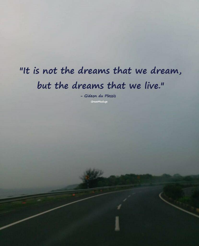 Gideon du Plessis 's inspirational great musings