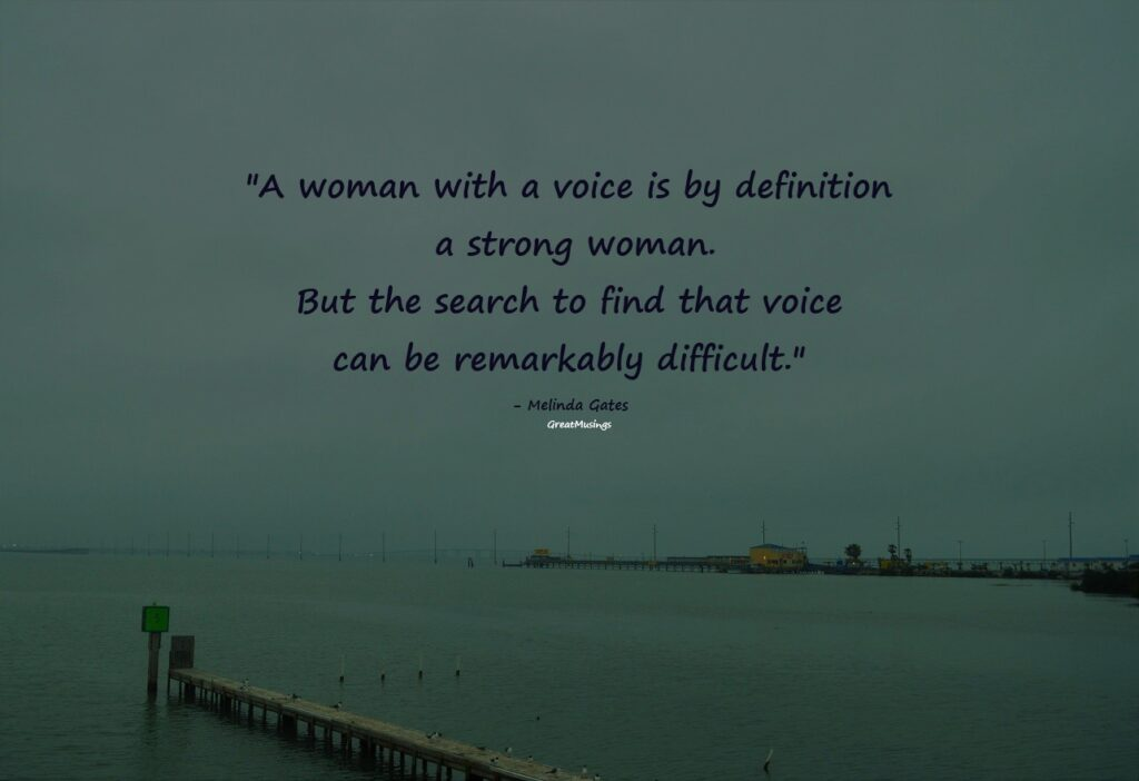 quote by Melinda Gates on Ocean view pic