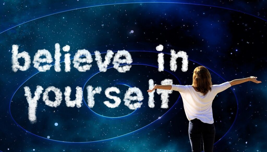 Believe in yourself with a woman pic